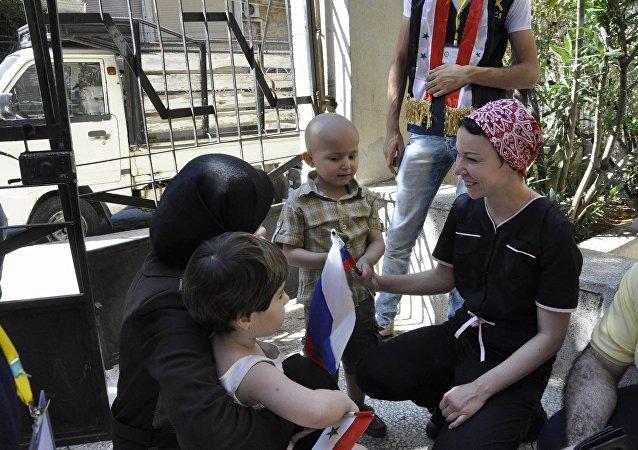 Rusya, Suriye'deki kanser hastası çocuklara ilaç ulaştırdı