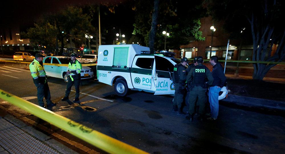 Bogota'da patlamanın meydana geldiği AVM