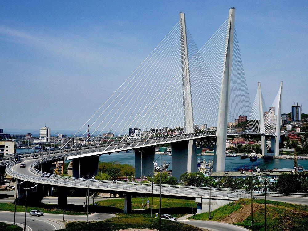 Vladivostok'taki Zolotoy Rog (Altın Boynuz) Köprüsü