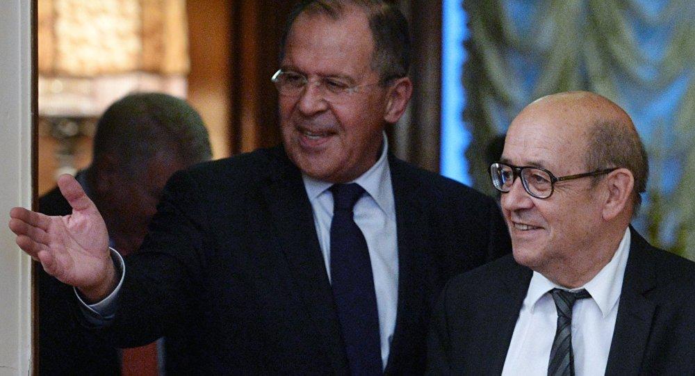 Rusya Dışişleri Bakanı Sergey Lavrov- Fransa Dışişleri Bakanı Jean-Yves Le Drian