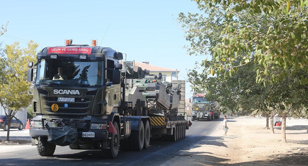 Tanklar sınırda TSK ve ÖSO savaşa giriyor