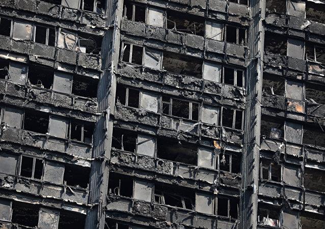 Londra'daki Grenfell Tower'da yangın