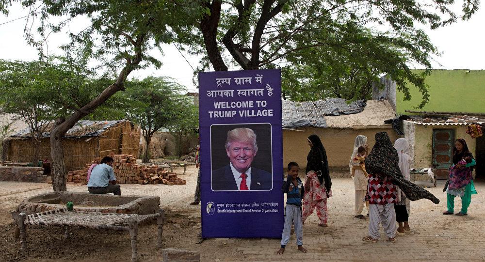 Hindistan'da bir köye Trump'ın adı verildi