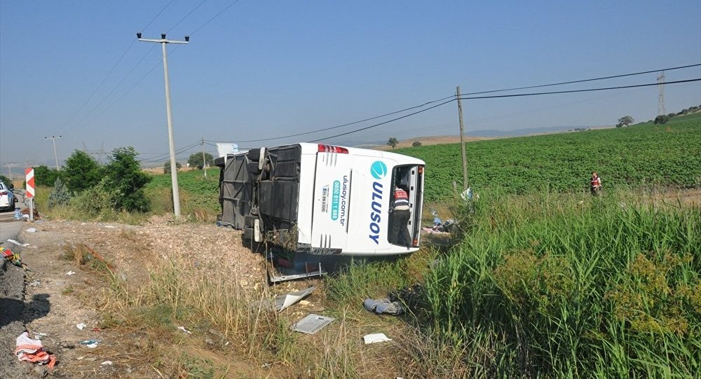 Balıkesir'de otobüs kazası