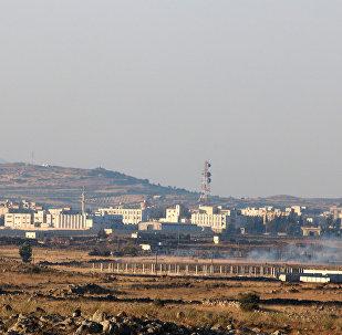 Suriye - İsrail işgali altındaki Golan Tepeleri sınırındaki Kuneytra