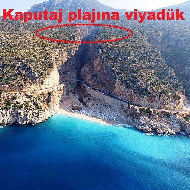 Türkiye'nin tanıtım yüzü Kaputaş Plajı, viyadükle geçilecek
