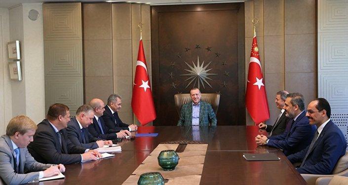 Cumhurbaşkanı Recep Tayyip Erdoğan - Rusya Federasyonu Savunma Bakanı Sergey Şoygu