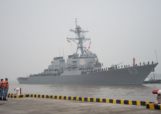 The guided missile destroyer USS Stethem (DDG 63) arrives at the Wusong military port in Shanghai. (File)