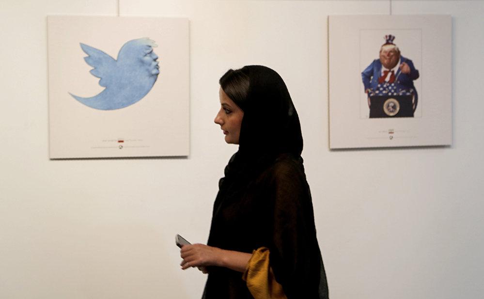 İran'da Trump'la 'dalga geçen' karikatür yarışması