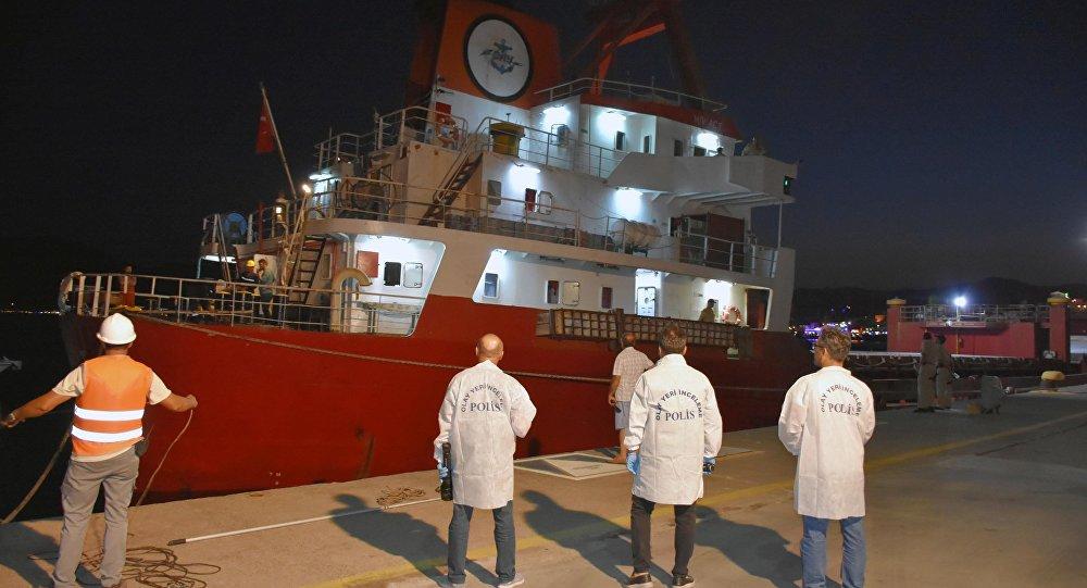 Ateş açılan Türk gemisi