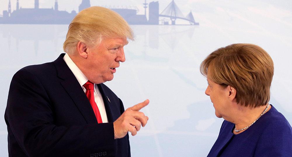 ABD Başkanı Donald Trump ile Almanya Başbakanı Angela Merkel