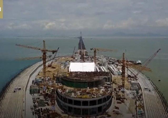Çin'in HKZM köprü projesinin yapımı son aşamasında videohaber