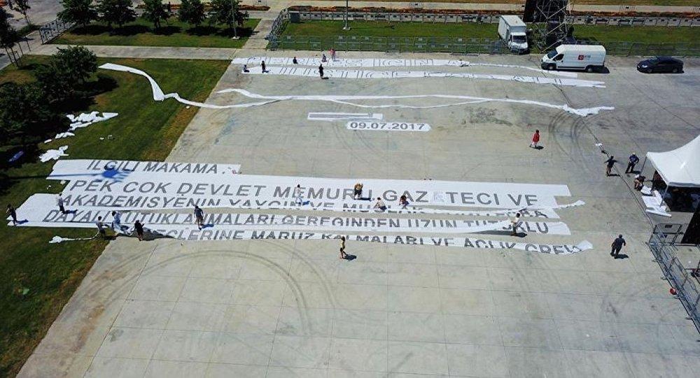 Dünyanın en büyük afişi - Adalet Mitingi