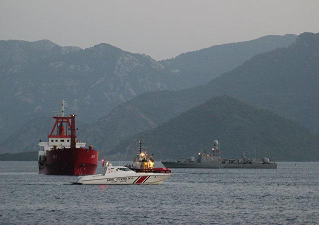 Yunan sahil güvenliğinin ateş açtığı Türk bayraklı yük gemisi ACT