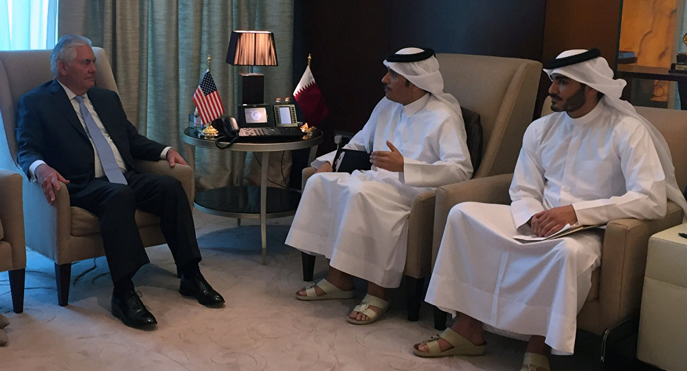 ABD Dışişleri Bakanı Rex Tillerson, Katar Dışişleri Bakanı Şeyh Muhammed bin Abdulrahman el Sani