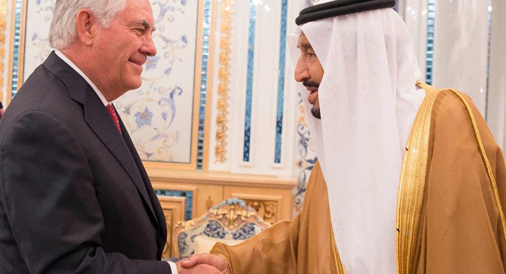 ABD Dışişleri Bakanı Rex Tillerson- Suudi Arabistan Kralı Selman bin Abdulaziz