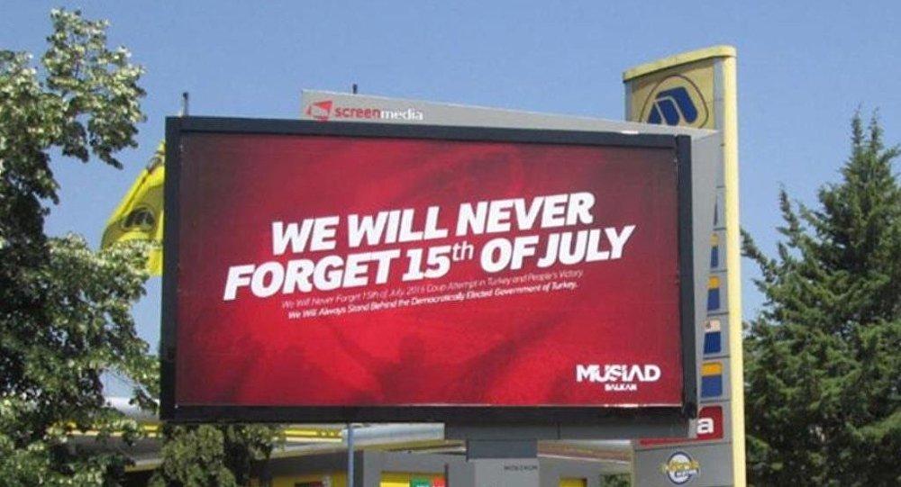ABD'de 15 Temmuz afişlerine yasak