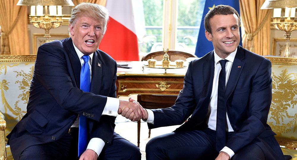 ABD Donald Trump- Fransa Cumhurbaşkanı Emmanuel Macron