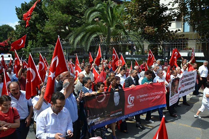15 Temmuz'da öldürülen muhtar Mete Sertbaş anıldı