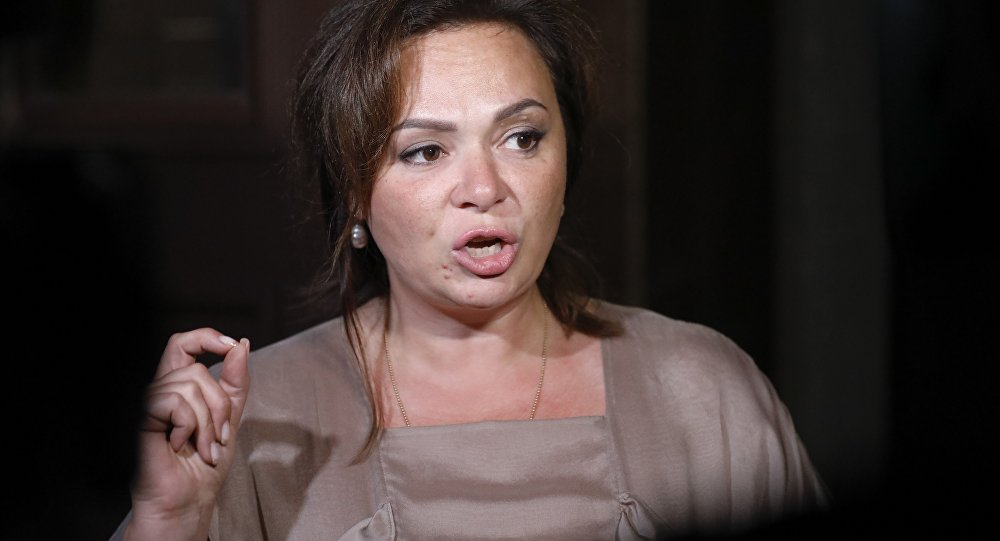 Kremlin-linked lawyer Natalia Veselnitskaya speaks to journalists in Moscow, Russia, Tuesday, July 11, 2017.