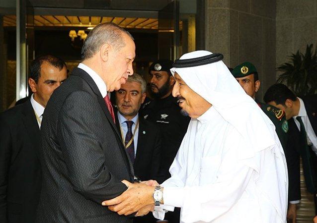 Cumhurbaşkanı Recep Tayyip Erdoğan- Suudi Arabistan Kralı Selman bin Abdülaziz