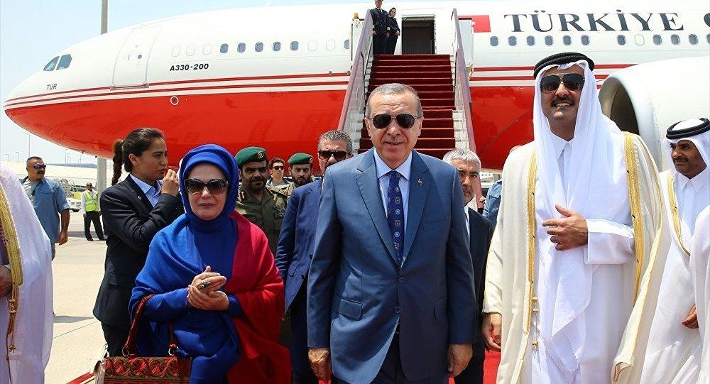 Recep Tayyip Erdoğan- Katar Emiri Şeyh Temim bin Hamad el Sani