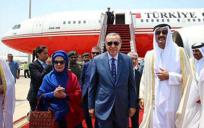 Erdoğan, Katar'da