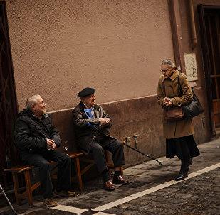 Yaşlı kadın - yaşlı erkek