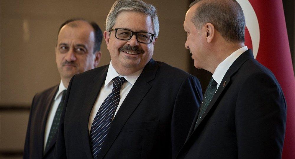 Cumhurbaşkanı Recep Tayyip Erdoğan- Rusya'nın Ankara Büyükelçisi Aleksey V. Erhov