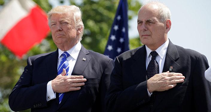 ABD Başkanı Donald Trump ile İç Güvenlik Bakanı John Kelly