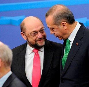 Cumhurbaşkanı Recep Tayyip Erdoğan - SPD lideri  Martin Schulz