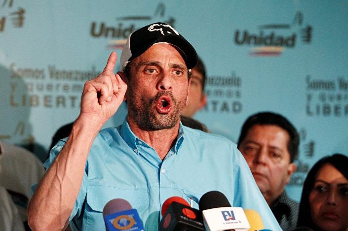Miranda Eyaleti Valisi Henrique Capriles