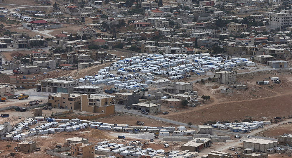 Arsel'de Suriyelilerin kaldığı mülteci kampı