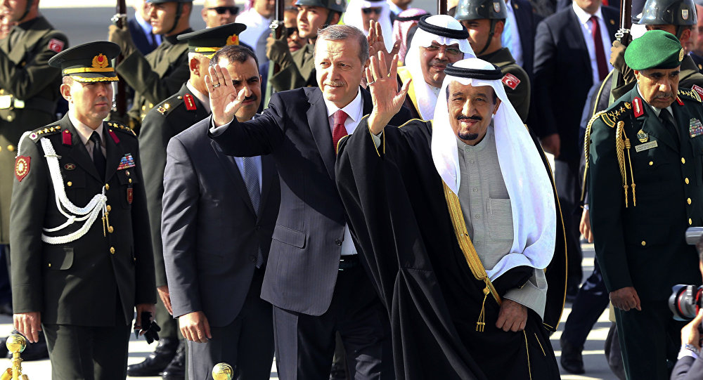 Cumhurbaşkanı Recep Tayyip Erdoğan-Suudi Arabistan Kralı Salman bin Abdülaziz