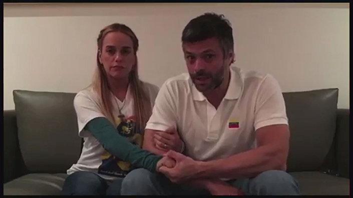 Leopoldo Lopez ve eşi Lilian Tintori