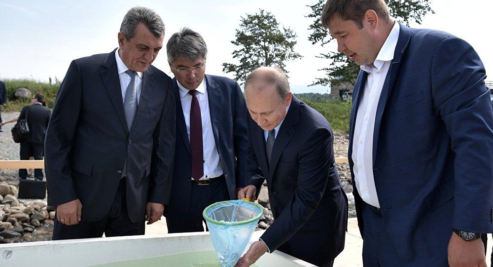 Vladimi Putin - Balık çiftliği