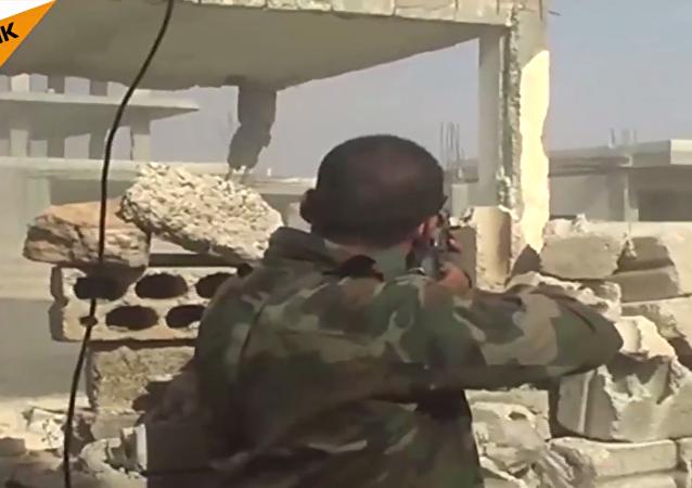 Suriye ordusundan kentsel alanda çatışma tatbikatı