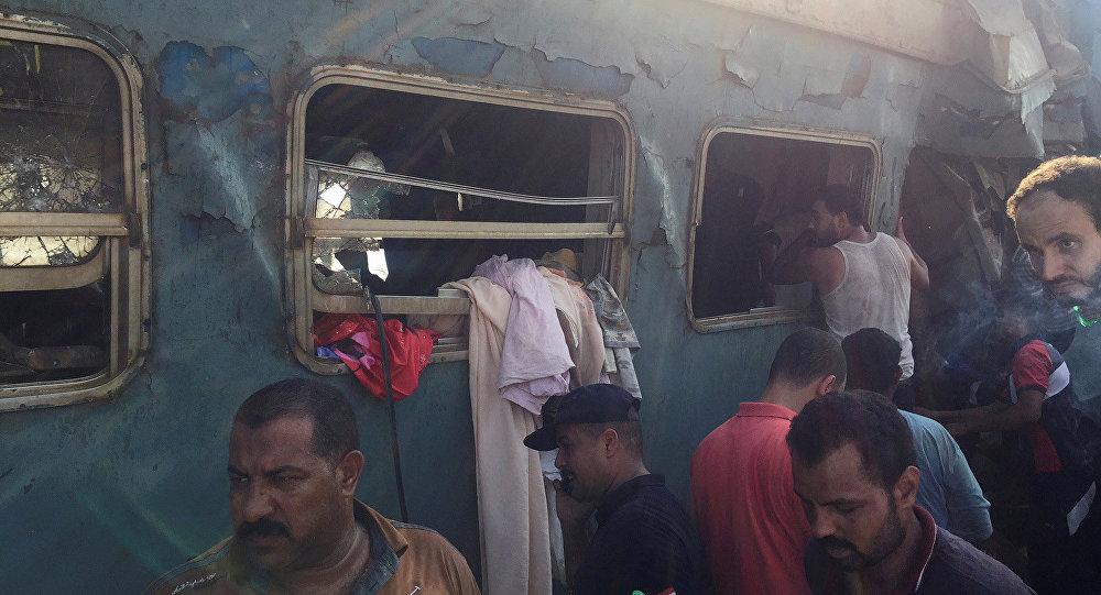 Mısır'ın İskenderiye kentinde yaşanan tren kazasından