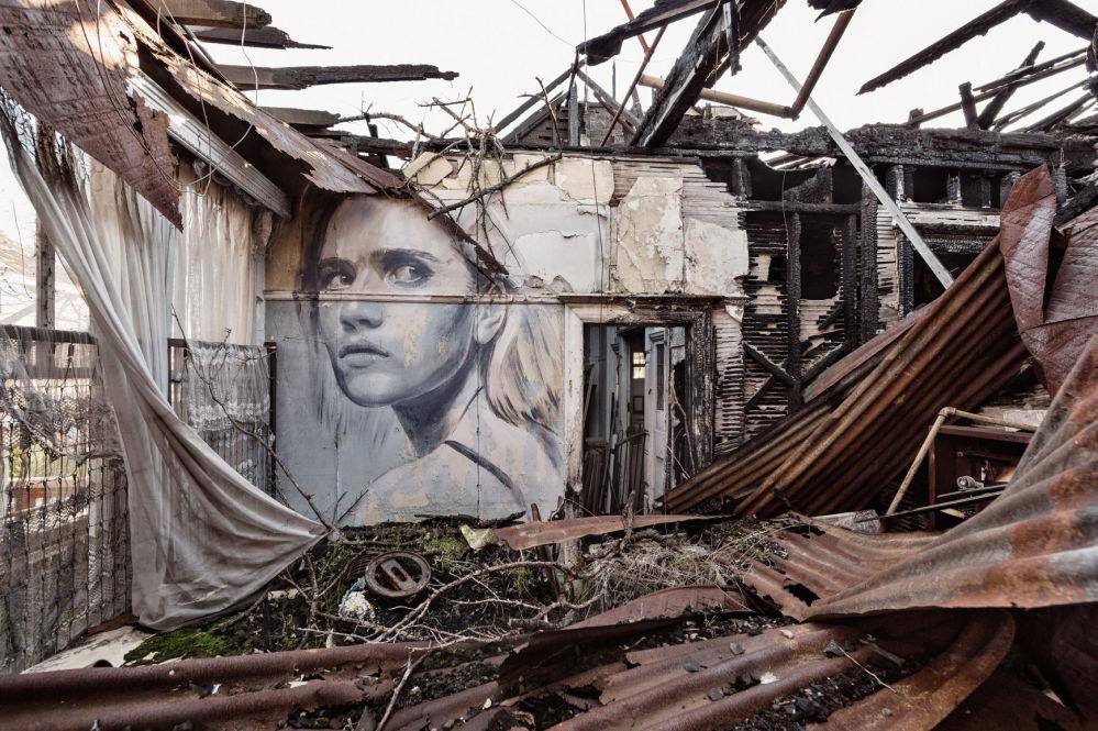 Terk edilmiş binalara çizilen resimler