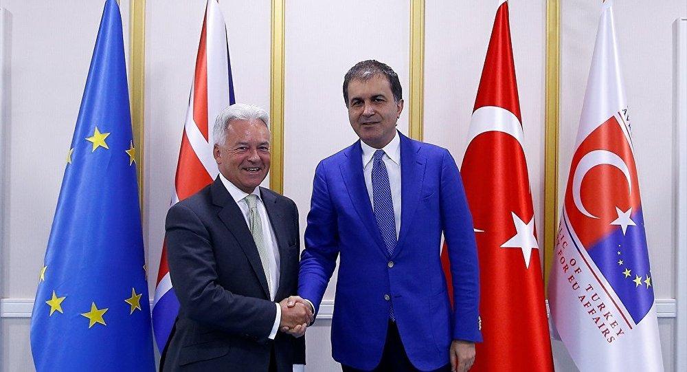 Avrupa Birliği (AB) Bakanı ve Başmüzakereci Ömer Çelik - İngiltere Dışişleri Bakanlığı Avrupa'dan Sorumlu Devlet Bakanı Alan Duncan