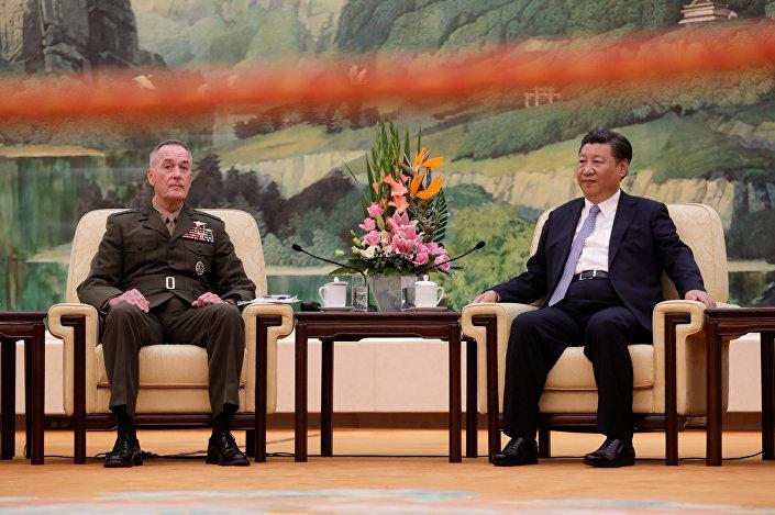 ABD Genelkurmay Başkanı Joe Dunford, Çin Devlet Başkanı Şi Cinping