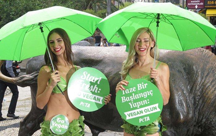 Kadıköy'de vegan eylem