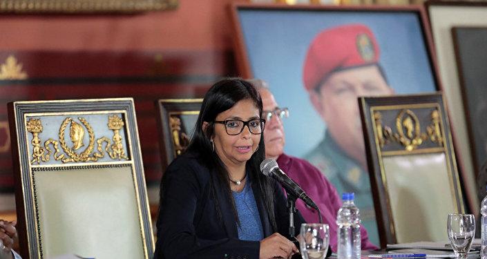 Venezüella Kurucu Meclis Başkanı Delcy Rodriguez
