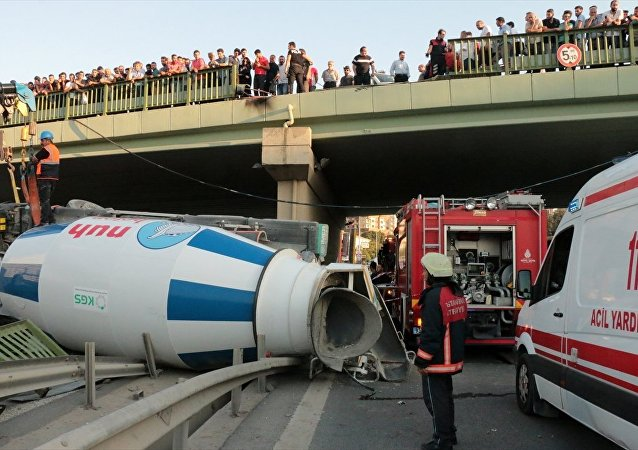 Kadıköy-kamyon kazası