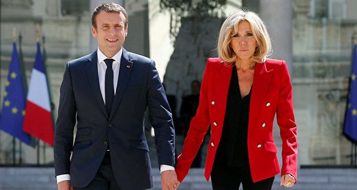 Franca Cumhurbaşkanı Emmanuel Macron- First Lady Brigitte Macron