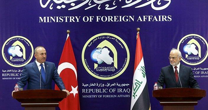 Dışişleri Bakanı Mevlüt Çavuşoğlu, Irak Dışişleri Bakanı İbrahim Caferi