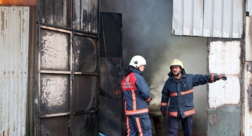 Şişli'de kurbanlıkların bulunduğu barınakta çıkan yangın