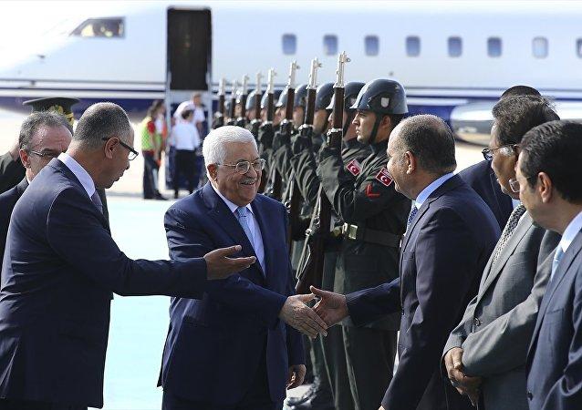 Filistin Devlet Başkanı Mahmut Abbas Türkiye'ye geldi