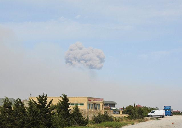 Azerbaycan'da silah deposunda patlama