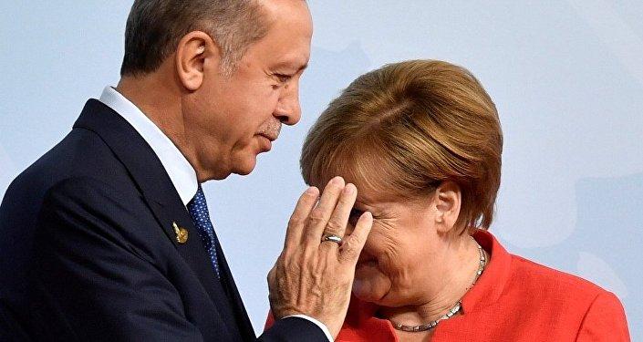Almanya Başbakanı Angela Merkel - Cumhurbaşkanı Recep Tayyip Erdoğan